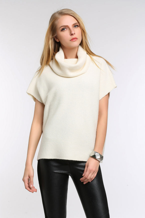 DRAPED-COWL-SHORT-SLEEVE-KNIT-SWEATER-CREAMY