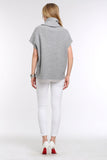 DRAPED-COWL-SHORT-SLEEVE-KNIT-SWEATER-GREY-BACK
