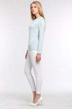 Load image into Gallery viewer, PASTEL-KNIT-SWEATER-LIGHT-BLUE-SIDE