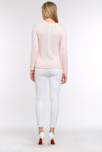 Load image into Gallery viewer, PASTEL-KNIT-SWEATER-LIGHT-PINK-BACK