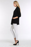 MULTI-PATTERN-OPEN-FRONT-KNIT-SWEATER-BLACK
