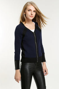 Rib-Trimmed-Knit-Jacket-Side