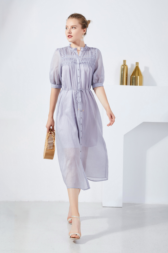 Klara-Linen-Shirt-Dress-Lilac-Main