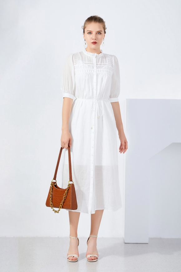 Klara-Linen-Shirt-Dress-White
