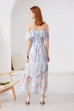 Load image into Gallery viewer, Leticia-Off-Shoulder-Floral-Dress-2