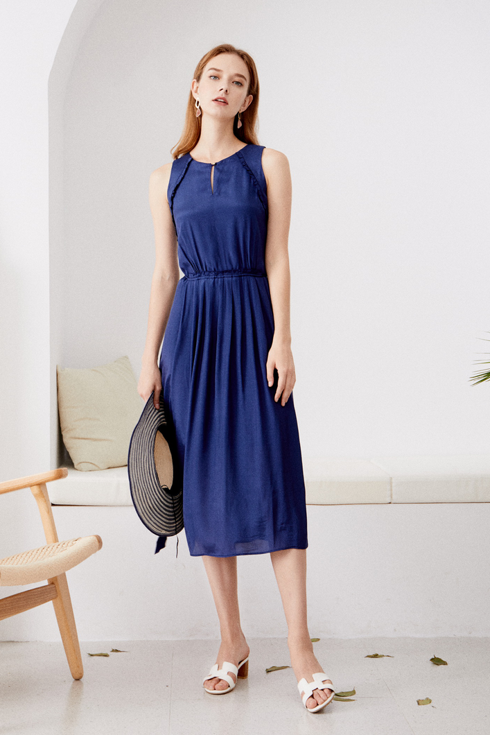 Marisa-Sleeveless-Navy-Dress-Main