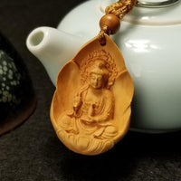 Carved Wooden Teapot Buddha