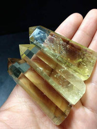 Citrine Quartz Crystal Wand Points