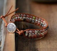 Double Leather Wrap Bracelet
