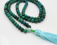 Natural Agate Crystal Mala Beads Necklace