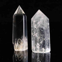 Quartz Crystal Wands: 2 Piece