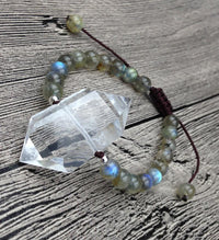 Quartz Double Point Bracelet