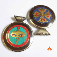 Tibetan Golden Buddha Eye Amulets