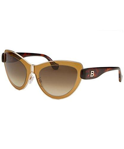 Balenciaga Women's Cat Eye Gold-Tone and Brown Sunglasses - KartCraver