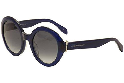 Alexander McQueen - AM0002S, Round, Acetate, Women, BLUE/GREY SHADED - KartCraver
