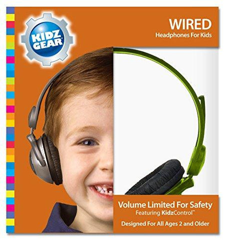 Kidz Gear Wired Headphones For Kids - KartCraver