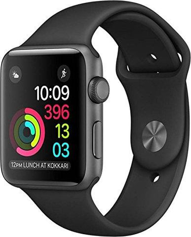 Apple Watch Series 1 42mm Smartwatch (Space Gray Aluminum Case/Black Sport Band) - KartCraver