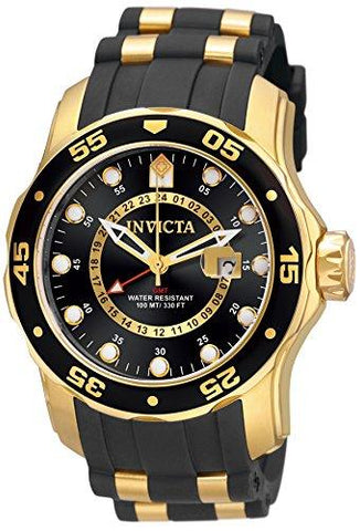 Invicta Men's 6991 Pro Diver Collection GMT 18k Gold-Plated Stainless Steel Watch - KartCraver