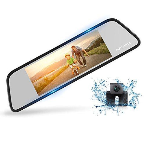 AUTO-VOX M8 Touch Screen Mirror Dash Camera - KartCraver