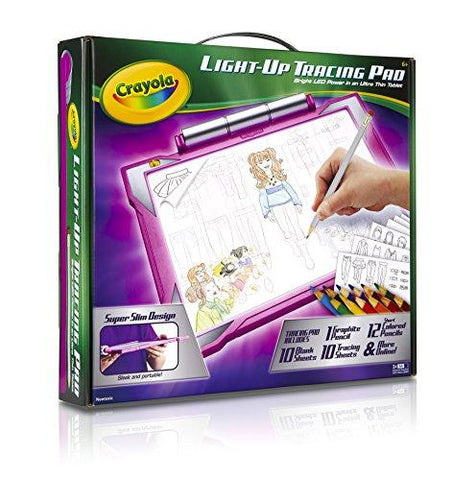 Crayola Light-up Tracing Pad Pink, Coloring Board for Kids, Gift, Toys for Girls - KartCraver