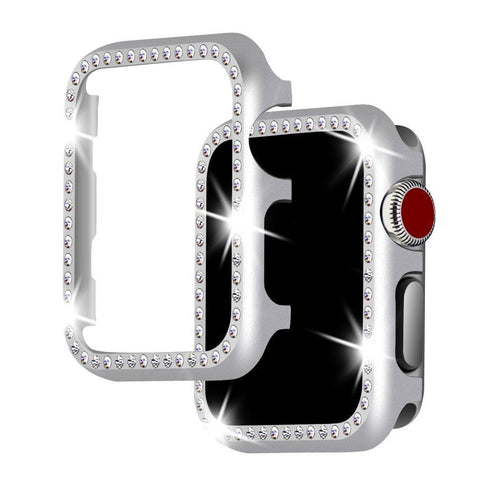 Apple Watch Case 38mm, Falandi Face Case with Bling Crystal Diamonds Plate - KartCraver