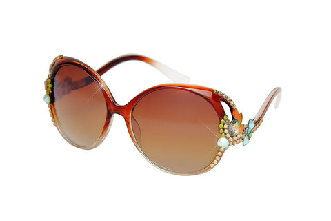 William Wang Womens designer - Non-polarized Swarovski Crystal Sunglasses - KartCraver