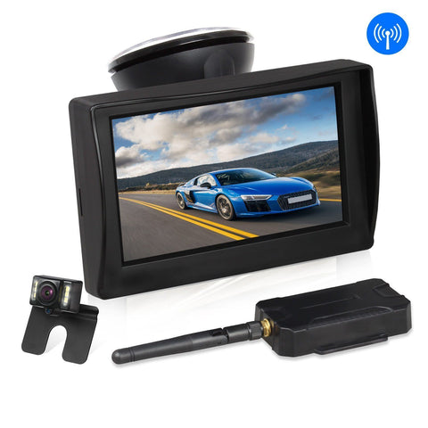"AUTO-VOX W1 Wireless Backup Camera Kit 4.3"" LCD Monitor - KartCraver"