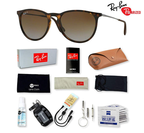 Ray-Ban RB4171 Erika Sunglasses with Deluxe Eyewear Accessories Bundle - KartCraver