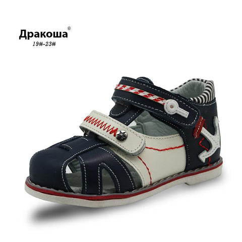 Apakowa New Genuine leather Boys Sandals - KartCraver