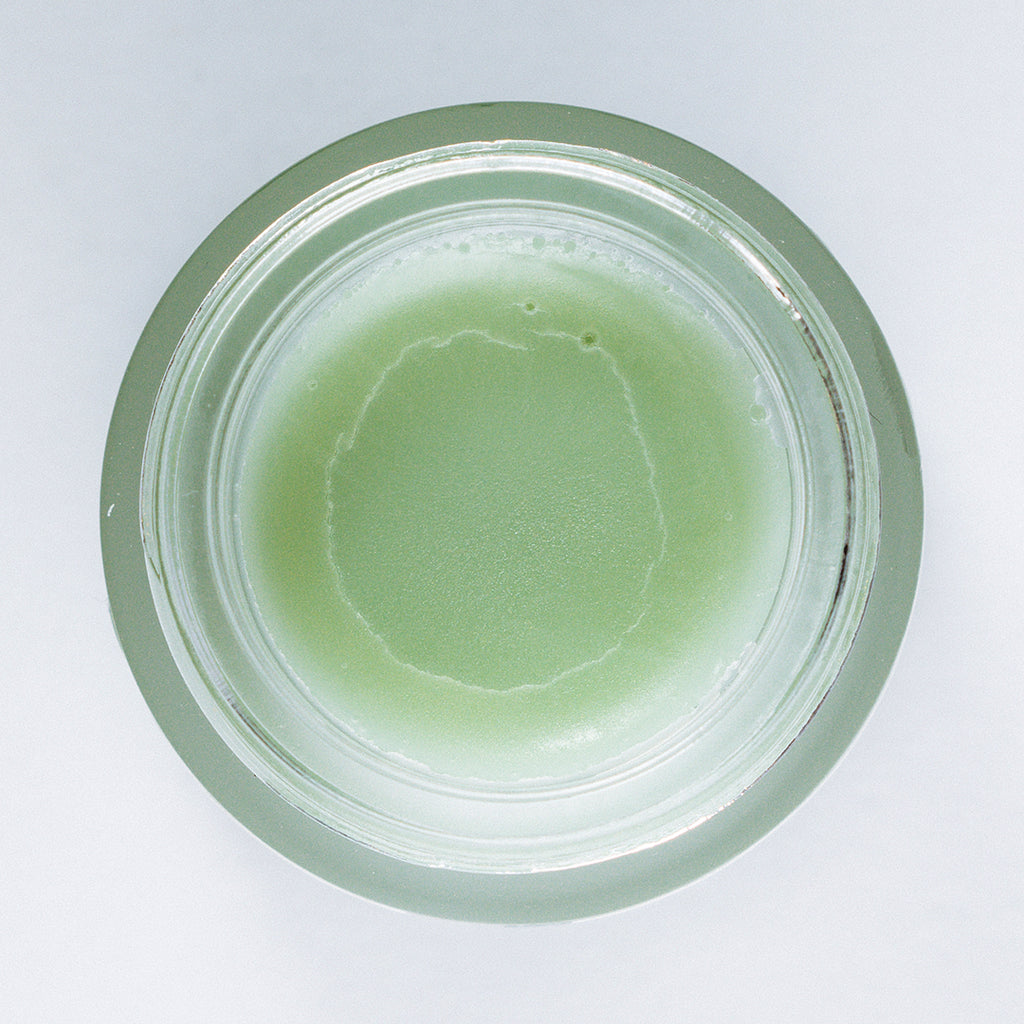 Blue Chamomile Skin Salve Texture in Jar