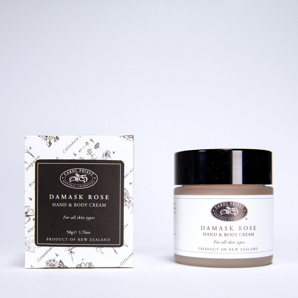 Damask Rose Hand and Body Cream Jar and Box