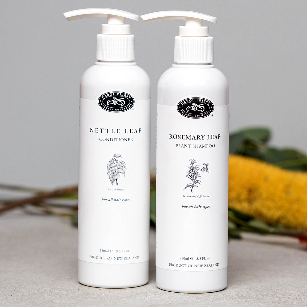 Rosemary Leaf Shampoo with the Nettle Leaf Conditioner