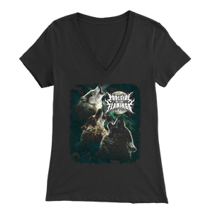 Wolf - Bella Womens V-Neck