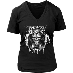 Skull - District Womens V-Neck