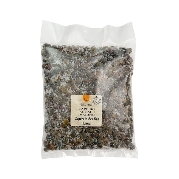 Etimo Pantelleria Capers in Sea Salt 17.6 Ounces
