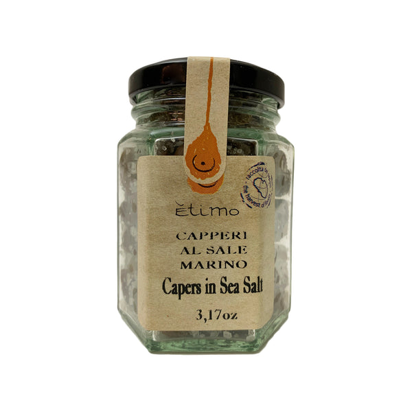 Etimo Pantelleria Capers in Sea Salt 3.17 Ounces