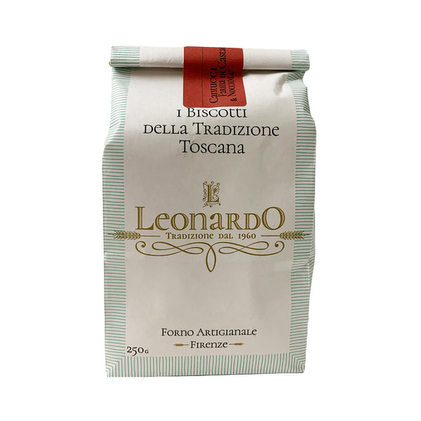 Leonardo Forno Cantucci Biscotti with Chestnut Flour and Hazelnuts from Italy 250 Grams