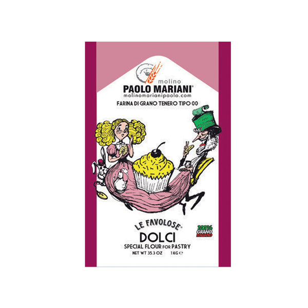 Paolo Mariani Italian Type 00 Pastry Flour Ideal for Pastries 2.2 Lbs