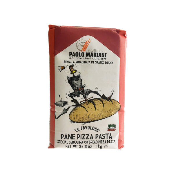 PAOLO MARIANI Durum Wheat Semolina Flour for Bread, Pizza and Pasta 2.2 Lbs