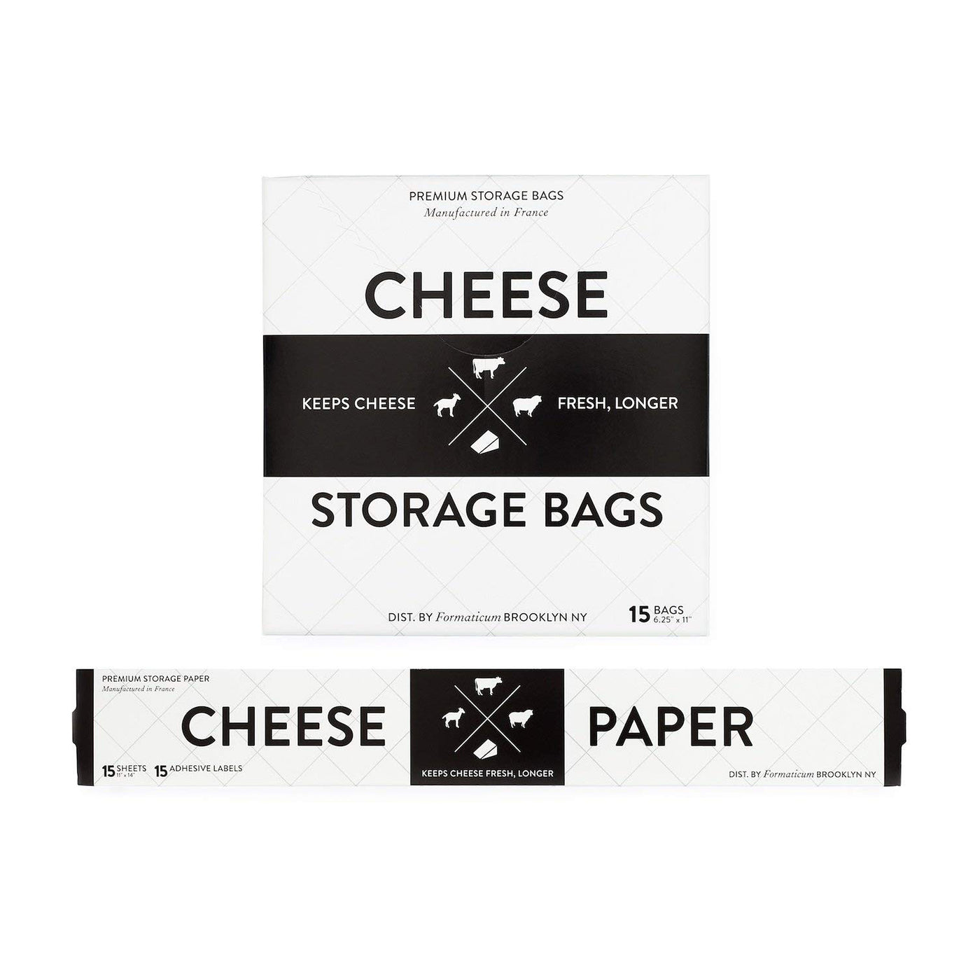 Formaticum Bundle - Cheese Storage Bags and Cheese Storage Paper with Adhesive Labels