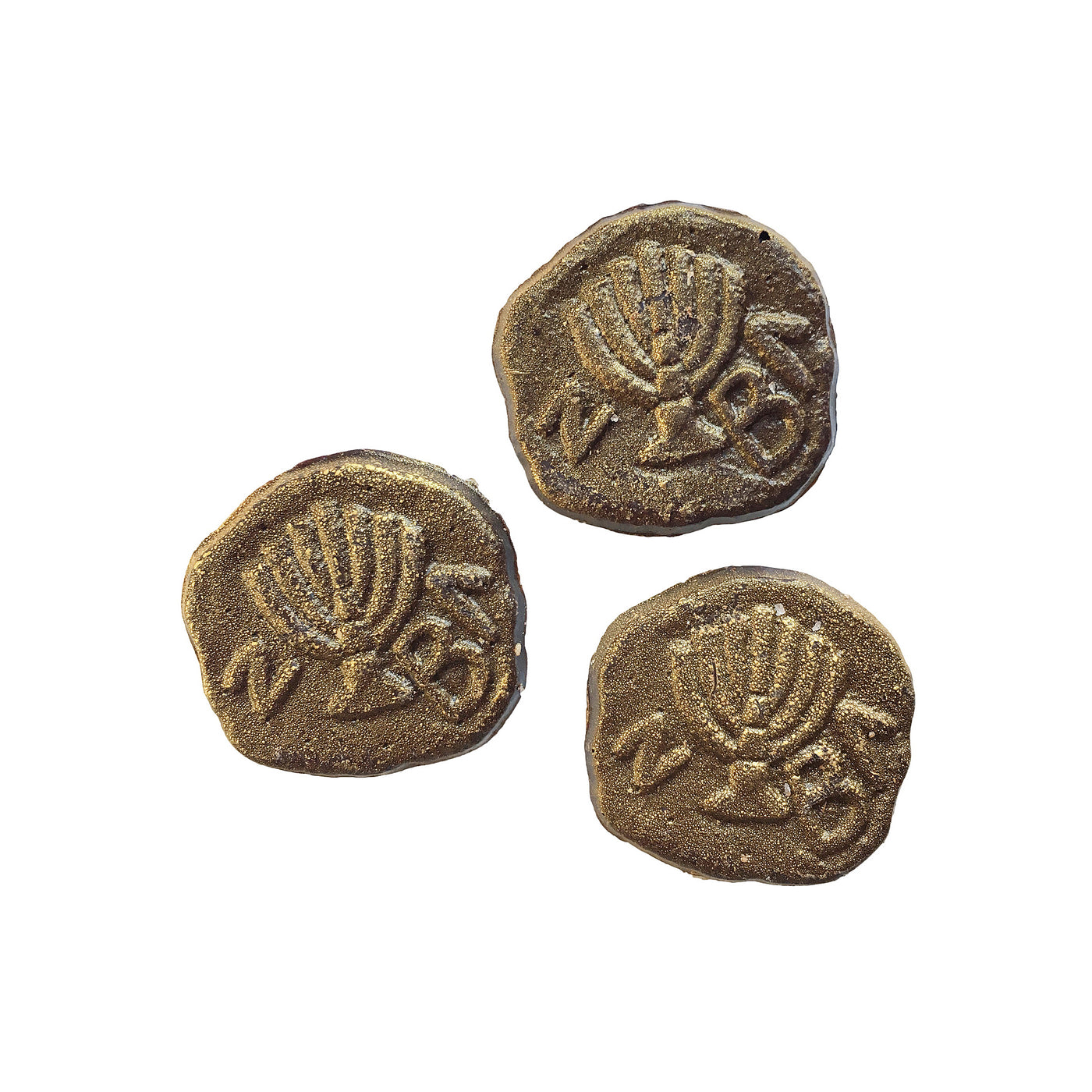 Hanukkah Gelt Coins Dark Chocolate Sea Salt - Nut Free - Non Dairy - Kosher
