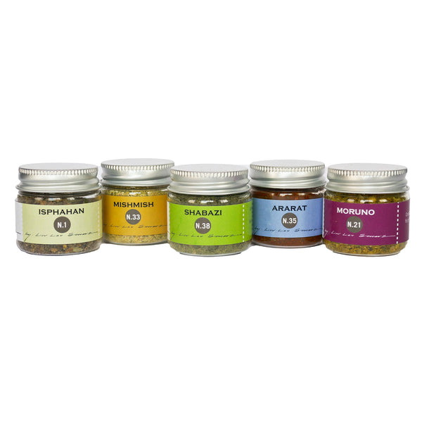 La Boite Mini Spices Set. Includes 1oz each of N.1, N.33, N.38, N.35 and N.21 (5 items)