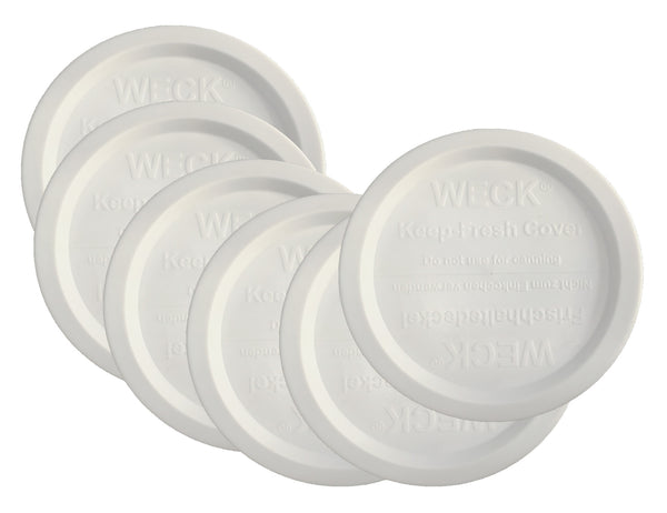 Weck Jar Keep-Fresh Plastic Lids, 6 PACK