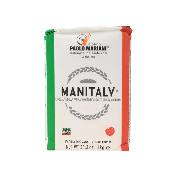 Manitaly Manitoba Type '0' Flour Made with 100% Italian Wheat 2.2 Lbs (1 kg)