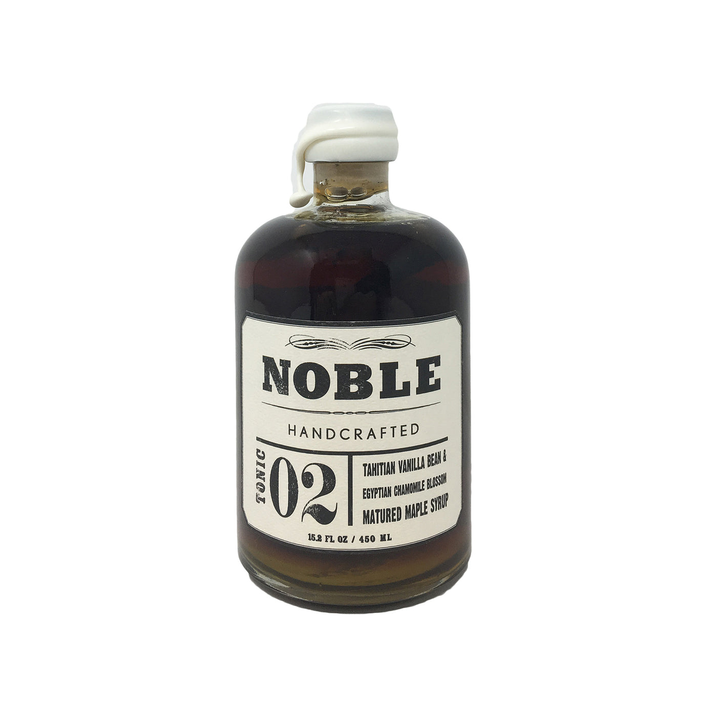 Noble Tonic 02: Tahitian Vanilla Bean and Egyptian Chamomile Blossom Maple Syrup, 15.2 fl oz