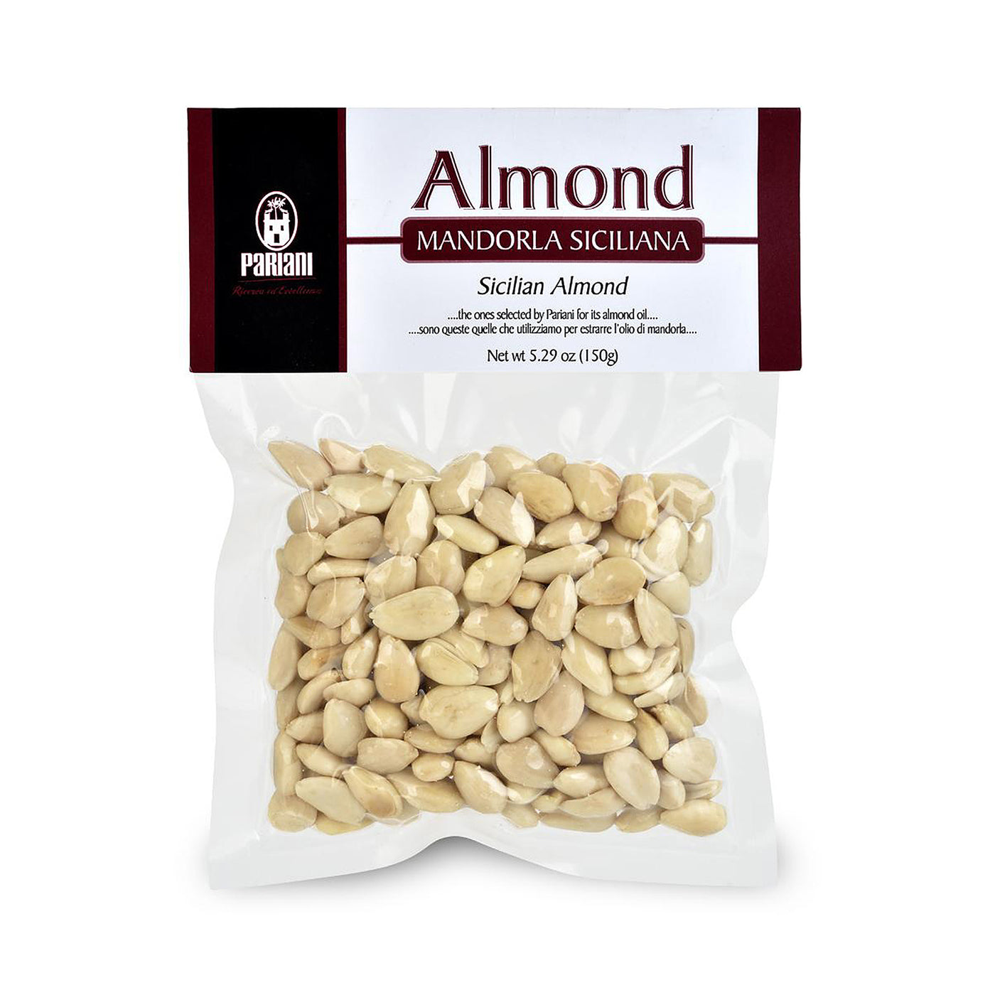 PARIANI Italian Almonds from Sicily (Raw, Peeled) 150g