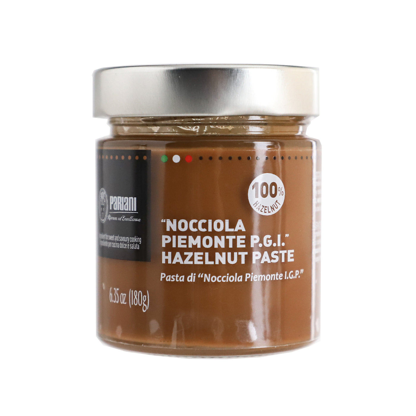 PARIANI 100% Pure Unsweetened Hazelnut Paste from Italy - 180g