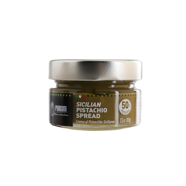 PARIANI Sweet Sicilian Pistachio Cream Spread with 52% Pistachio - 100g (3.53oz)