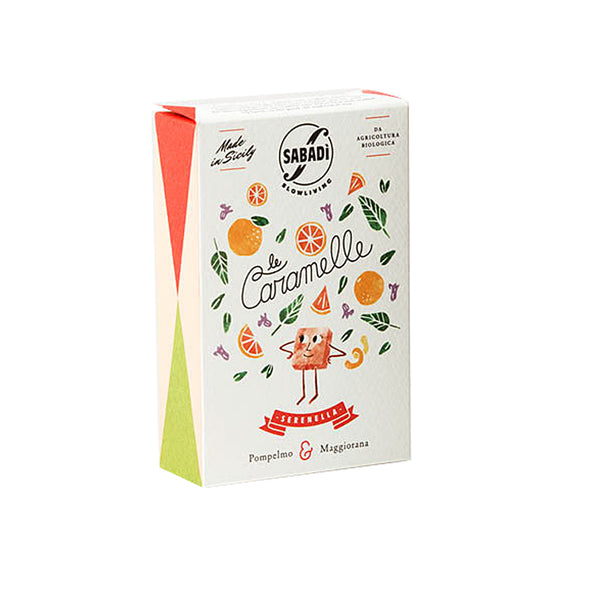 Sabadi Organic Italian Hard Candy with Grapefruit & Marjoram 1.14 oz