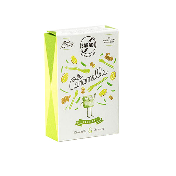 Sabadi Organic Italian Hard Candy with Lemongrass & Ginger 1.14 oz